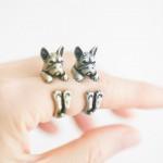 Frenchie-Ring in Gold oder Silber: Schmuck für Französische-Bulldoggen-freunde